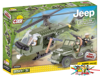 Cobi 24254 Willys MB with Helicopter